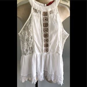 Boho Lace/Embroidered Top